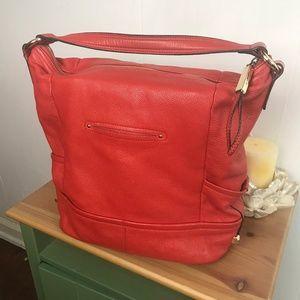 B. Makowsky Purse Bright Orange Shoulder Bag